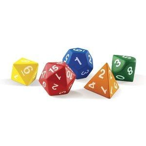 Learning Resources Jumbo Foam Polyhedral Dice - Set of 5