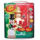 Works of Ahhh... Holiday Series Snowman Wood Painting Kit