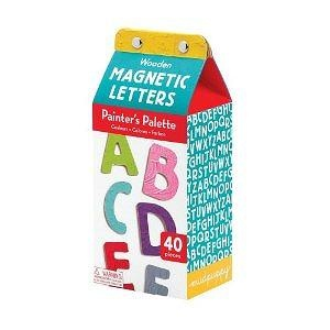 Mudpuppy Wooden Magnetic Painters Palette Letters