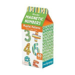Mudpuppy Wooden Magnetic Playful Patterns Numbers