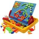 Megcos Toy Magnetic Shapes, Letters, Numbers,& Board -Affordable Gift for your Little One! Item #LMID-1137
