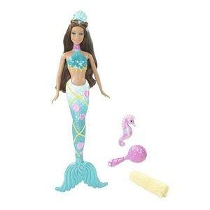 BARBIE Splash & Style Mermaid Doll with Seahorse