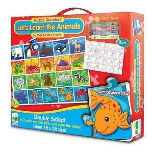 The Learning Journey Puzzle Doubles Lets Learn the Animals Floor Puzzle