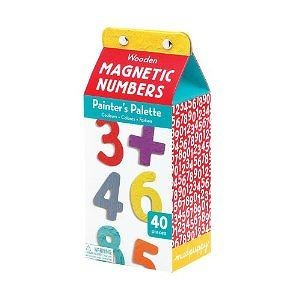 Mudpuppy Wooden Magnetic Painters Palette Numbers