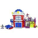 Playskool Super Hero Adventure Crime Fighter Headquarter With Spider-Man Green Goblin
