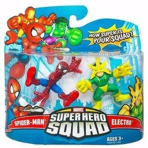 Marvel Superhero Squad Series 9 Mini 3 Inch Figure 2-Pack Spider-Man and Electro
