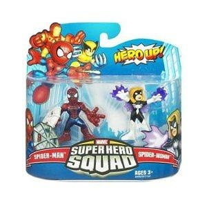 Marvel Superhero Squad Series 20 Mini 3 Inch Figure 2Pack SpiderMan SpiderWoman