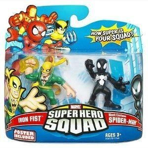 Marvel Superhero Squad Series 14 Mini 3 Inch Figure 2-Pack Black Costume Spider-Man and Iron Fist