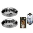 Mach Airship Accessory Bundle Incl 2 UFO Saucer Balloons, 3V & 9V Battery