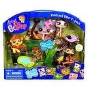 Hasbro Littlest Pet Shop Postcard Pets 3 Pack Bobble Head Pets Figure Set - Lion (#944) with Crown and Pond; Ostrich (#945) wit