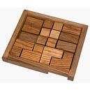 Square Root Games 0009 Dirty Dozen Puzzle in Natural Finish Solid Hardwood