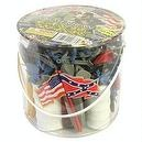 Civil War Soldier 102 Piece Playset: Bucket of 54mm Plastic Army Men and Accessories 1:32 Scale