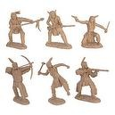 Plains Indian Warriors Plastic Army Men: 12 piece set of 54mm Figures - 1:32 scale