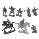 WWII German Elite Troops Plastic Army Men: Set of 14 54mm Figures and 2 Horses - 1:32 scale