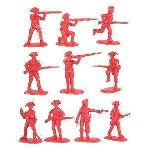 American Revolution British Army Infantry (20) 1-32 Armies in Plastic