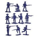 American Revolution Continental Army Infantry (20) 1/32 Armies in Plastic