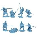 Civil War Union Infantry Greatcoat Plastic Army Men: 16 LIGHT BLUE 54mm Figures - 1:32 scale