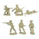 WWII D-Day British Infantry Plastic Army Men: 12 TAN 54mm Figures - 1:32 scale