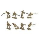 WWII Japanese Infantry Plastic Army Men: 16 piece set of 54mm Figures - 1:32 scale