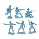 Civil War Dismounted Cavalry Plastic Army Men: 12 LIGHT BLUE 54mm Figures - 1:32 scale