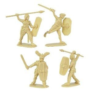 Gallic Warband Plastic Army Men: 16 piece set of 54mm Figures - 1:32 scale