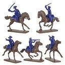 American Revolution American Continental Cavalry (5 Mounted) 1/32 Armies in Plastic