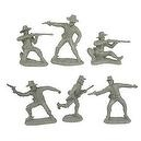 Civil War Dismounted Cavalry Plastic Army Men: 12 GRAY 54mm Figures - 1:32 scale