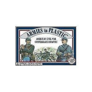 American Civil War Confederate Infantry (20) 1-32 Armies in Plastic