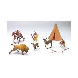Life on the Frontier Plains Indian Playset: Native American Figures with Teepee, Wildlife, and Horse