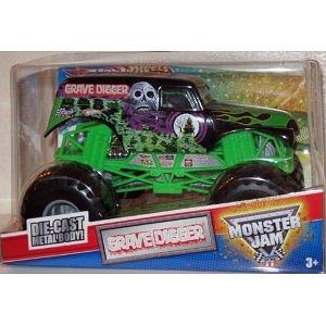 HOT WHEELS, SCALE GRAVE DIGGER, TIMES MONSTER JAM CHAMPION ...
