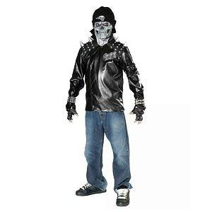 Skull Biker (Large) Kids Biker with Metal Skull Costume