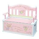 Levels Of Discovery Fairy Wishes Bench Seat with Storage Pink/White