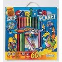 Carioca Kids World 60 Piece Activity Kit (Alien Coloring Book)