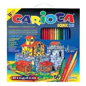 Carioca Scenic 3D Coloring 56 Piece Construction Kit