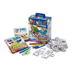 Carioca Maxi-Project 35-Piece Coloring Puzzle (Monsters)