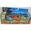 Disney / Pixar CARS Movie 155 Die Cast Cars 3Car Gift Pack The King, Tongue Lightning McQueen Chick Hicks Lenticular Eyes!