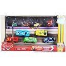 "Mattel 1:55 Scale Diecast Disney Pixar Movie Series ""Cars"" Exclusive Piston Cup Nights Racing Series Speedway 9-pack Set with D"
