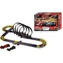 Wingo Life Like F1 Racer with Death loops - Adjustable Giant Premium Slot car Track set with Turbo booster - AC powered Electri
