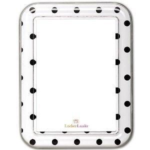 Locker Lookz Magnetic Dry-Erase Boards White Black Dots Stylish Magnetic Dry Erase Boards