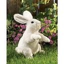 Folkmanis Puppet Standing White Rabbit