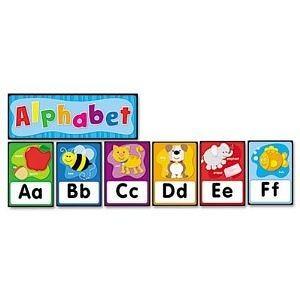 Carson-Dellosa 119004 Quick Stick Bulletin Board Set, Alphabet