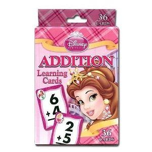 Disney Princess Addition Learning Game Cards