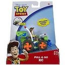 Woody Mini-Figure + RC (Not a Real RC): Toy Story Pull & Go Vehicle Series
