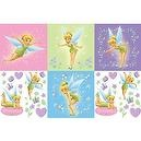Blue Mountain Wallcoverings 31420620 Tinker Bell Self-Stick Decorating Kit, Pink