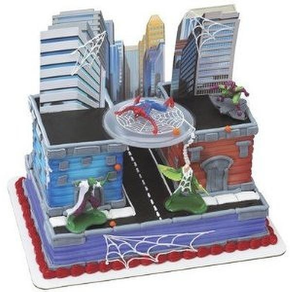 Cake Decorating Toy Kits : Spiderman Sneak Attack Birthday Party Cake Decorating Kit