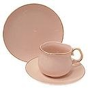 Princess Pink Pattern Fine China Cup Cake Plates for Childrens Tea Parties