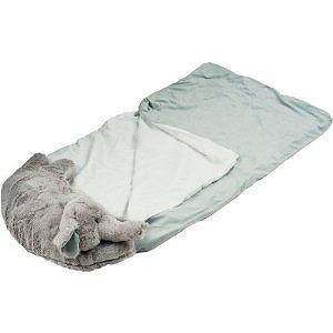 Happy Camper Kids Elephant Pet Pillow Sleeping Bag Combo