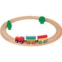 Nuchi Wooden Railway / 15-piece Beginners Circle Train Set