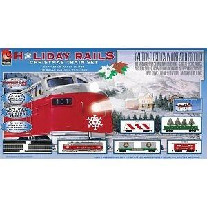 Life-Like Trains HO Scale Holiday Rails Electric Train Set #8198