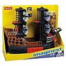 Fisherprice Imaginext Black and Red Pirate Ship with 2 Figures